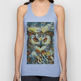 AnimalArt_Owl_20170912_by_JAMColorsSpecial Unisex Tank Top