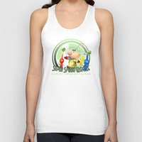 smash bros Tank Tops featuring Olimar - Super Smash Bros. by Donkey Inferno