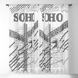 SoHo, New York Sheer Curtain