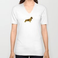 bisexual V-neck T-shirts featuring I LOVE my Dachshund I by Better HOME