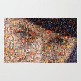 David Bowie Mosaic Art Rug