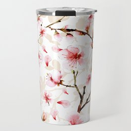 Watercolor cherry blossom pattern Travel Mug