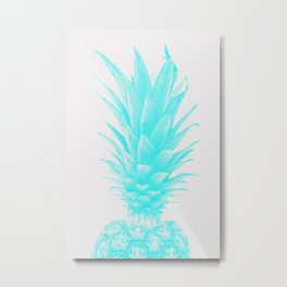 Blue Pineapple Xerox  Metal Print