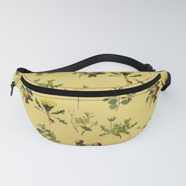 Wild Forest & Field Yellow Flower Herb Pattern Fanny Pack