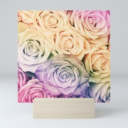 Some people grumble - Colorful Roses - Rose pattern Mini Art Print