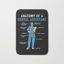 Funny Anatomy of a Dental Assistant Bath Mat