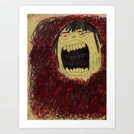 Screaming with My Mouth Closed (Then Opening It) Art Print