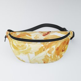 Sunny Day Painterly Floral Abstract Fanny Pack