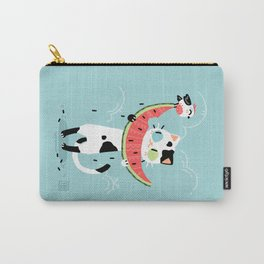 Watermelon Cat Carry-All Pouch
