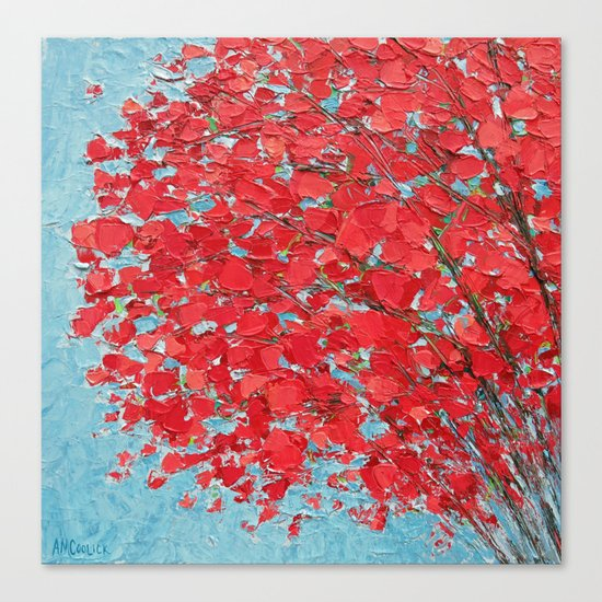 Highlands Red Maple Canvas Print