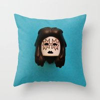 ace Throw Pillows featuring Ace by Beastie Toyz