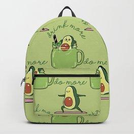 Drink More Smoothie Do More Yoga Avocado Backpack