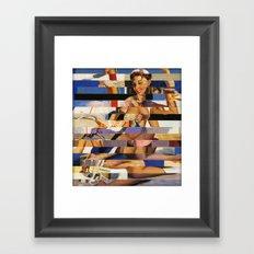 Glitch Pin-Up Redux: Sophia Framed Art Print