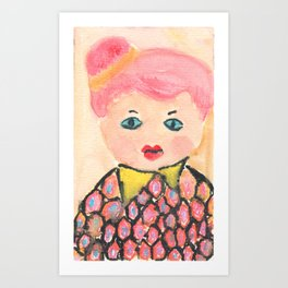 My Boss is a Pink Hair Girl Art Print