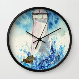 Lighttower vs Waves Wall Clock