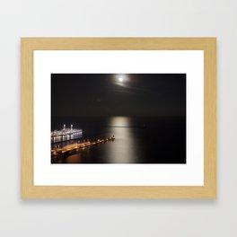 Navy Pier Moonlight Framed Art Print