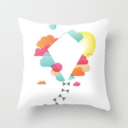 Fly A Kite Throw Pillow