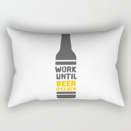 Beer Bottle Rectangular Pillow