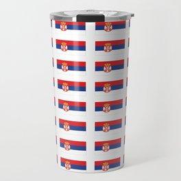 flag of Serbia 2-balkan,serbian,europe,yugoslavia, Pannonian,Belgrade,Novi Sad,nis,kragujevac Travel Mug