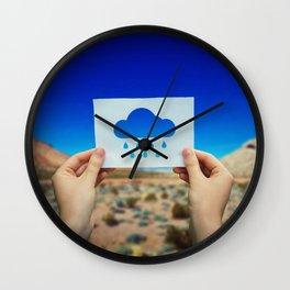 holding rain icon Wall Clock