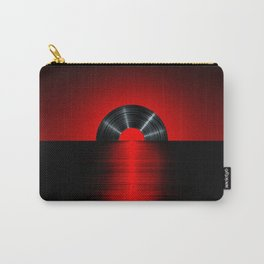 Vinyl sunset red Carry-All Pouch