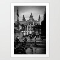 barcelona Art Prints featuring Barcelona by Francesca Vincis