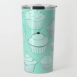 Minty Green Cupcakes! Travel Mug