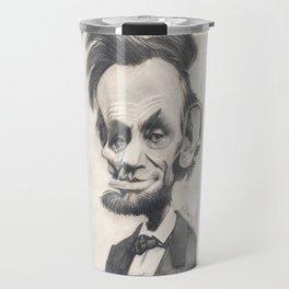 Abraham Lincoln, caricature. Travel Mug