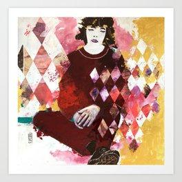 Arlecchino seduto Art Print