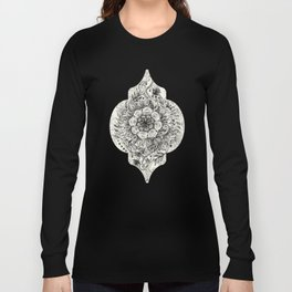 Messy Boho Floral in Charcoal and Cream  Long Sleeve T-shirt