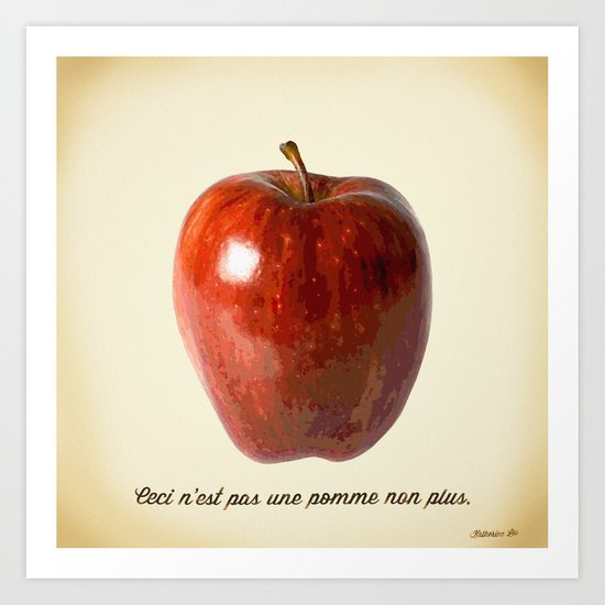 This is not an apple either Art Print