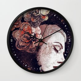 Obey Me: Blood (graffiti flower woman profile) Wall Clock