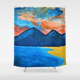Evening Tide at Murlough Shower Curtain