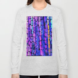 Yellow Sugarcane on Pink and Blue Long Sleeve T-shirt