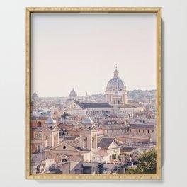 Roman Sunrise - Rome Italy Travel Photography Serving Tray