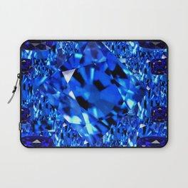 AWESOME SEPTEMBER BLUE  SAPPHIRES GEM BIRTHSTONE ART Laptop Sleeve