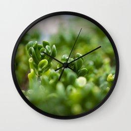 Little Alien Forest - Flower Six Wall Clock
