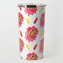 Number One Wiener Pattern Travel Mug