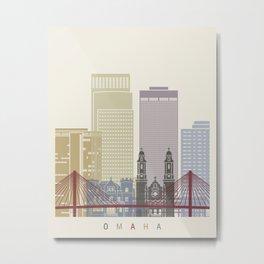 Omaha skyline poster Metal Print