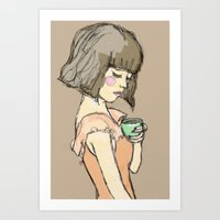 gemma Art Prints featuring Gemma by Gemma Teese