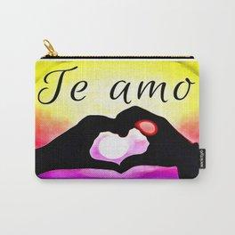 Te amo in Pop-art Carry-All Pouch