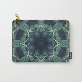 Mystical // Dark Green Plant Visionary Art Mandala Ayahuasca Sacred Geometry Psychedelic Trippy Carry-All Pouch