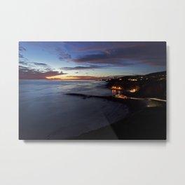White Point Beach: Dusk Metal Print