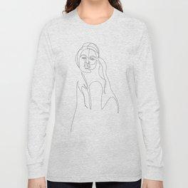 girl - one line art Long Sleeve T-shirt