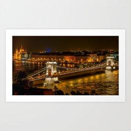 Budapest | Szechenyi Chain Bridge Art Print