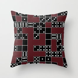 Domino Pattern Throw Pillow