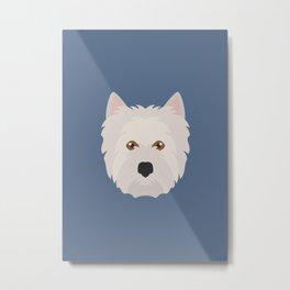 White West Highland Terrier Dog Metal Print