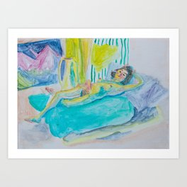 Reclining Figure Art Print