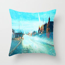 Raindrops and Light Dazzle. Throw Pillow