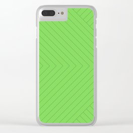 Linear Stripes - Green Clear iPhone Case